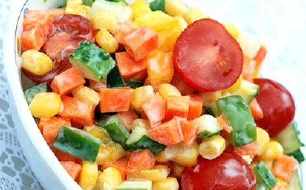 Рецепт                  Хрустящий овощной салат
