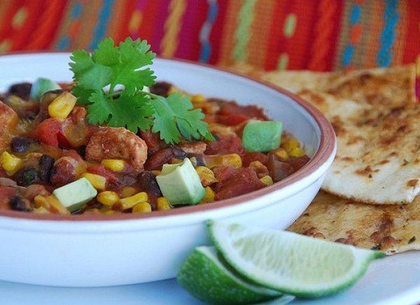 Рецепт                  Мексиканское рагу из курицы с овощами