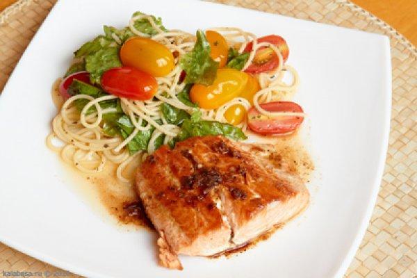 Рецепт                  Рыба с пастой и помидорами-черри