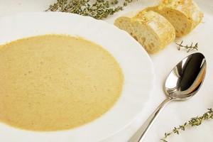 Грибной крем-суп с белым вином и тимьяном