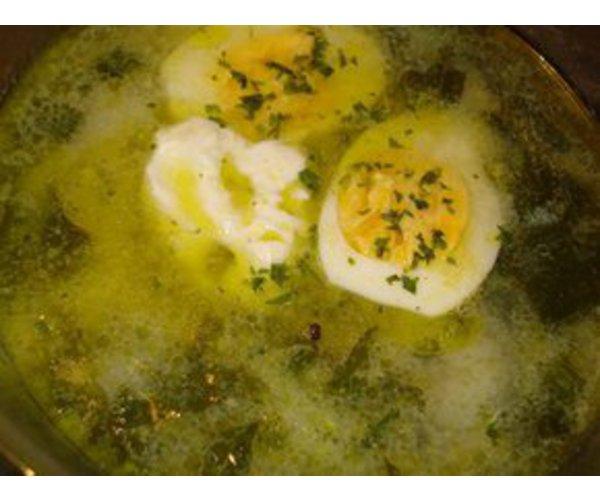 Рецепт                  Зеленый борщ