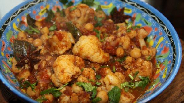 Рецепт                  Вегетарианское карри из цветной капусты