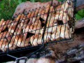Вкусный шашлык из куриных крылышек