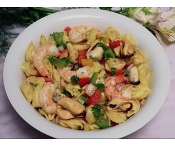 Рецепт                  Равиоли с морепродуктами