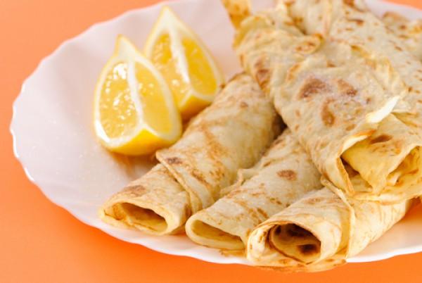 Рецепт                  Лимонные блины: Рецепт