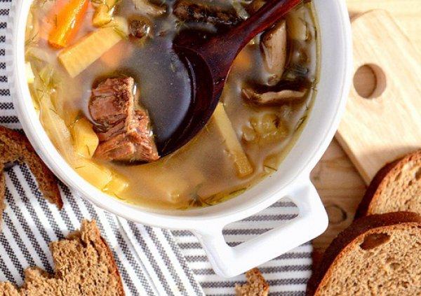 Рецепт                  Щи с говядиной и грибами