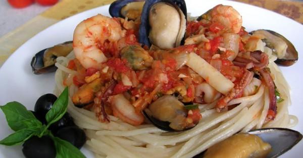 Рецепт                  Паста c соусом маринара