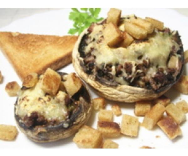 Рецепт                  Фаршированные шампиньоны под сыром