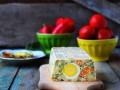 Пасхальный террин с овощами и ветчиной