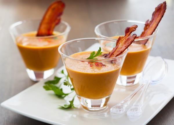 Рецепт                  Тыквенный суп с нутом и беконом
