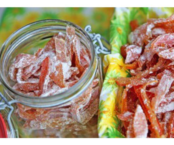 Рецепт                  Цукаты из мандариновых корок