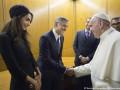Джордж Клуни и его жена Амаль Аламуддин встретились с Папой Римским