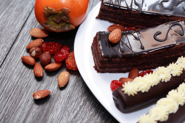 Рецепт                  Шоколадный пирог с хурмой