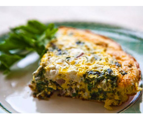 Рецепт                  Омлет со шпинатом