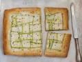 Пирог из слоеного теста с кабачками
