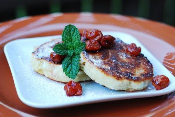 Рецепт                  Сырники с вишневым вареньем