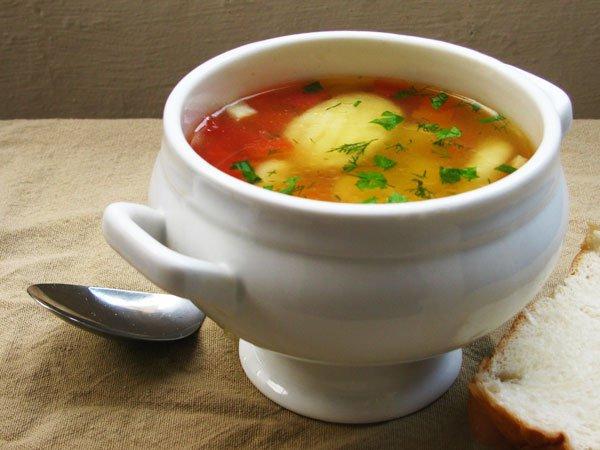 Рецепт                  Суп с картофельными клецками