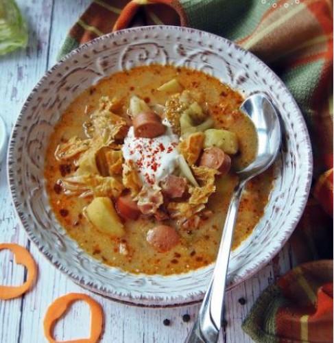 Суп с квашеной капустой и копченостями: Пошаговый видео-рецепт