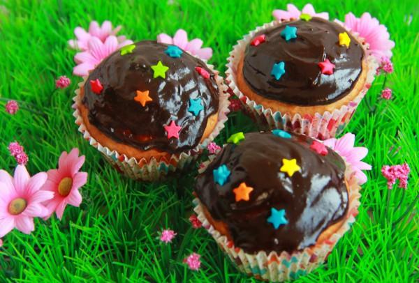 Рецепт                  Банановые кексы с шоколадной глазурью