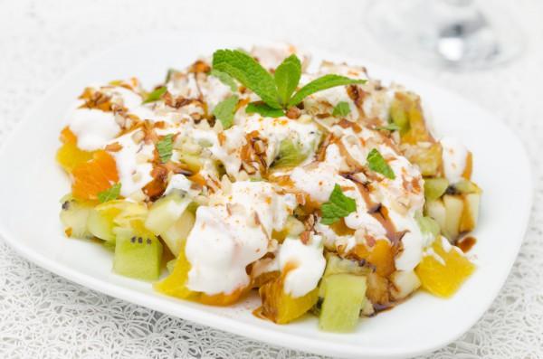 Рецепт                  Летний завтрак: Фруктовый салат с йогуртом