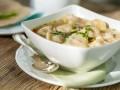 Суп с домашними пельменями