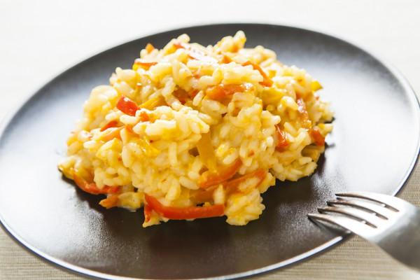 Рецепт                  Постный рис с болгарским перцем
