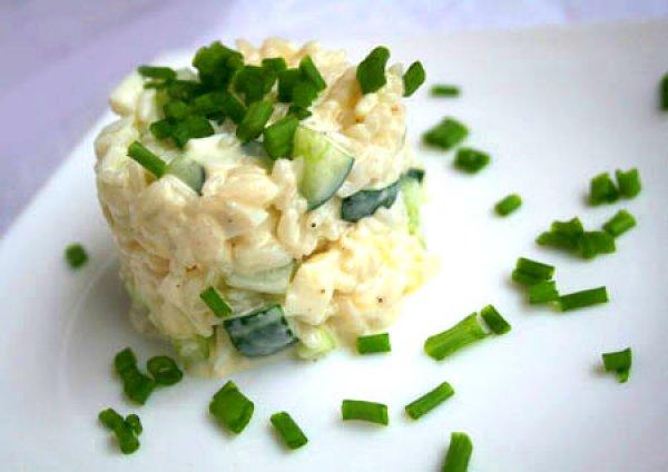 Рецепт                  Рисовый салат с ананасами и огурцами