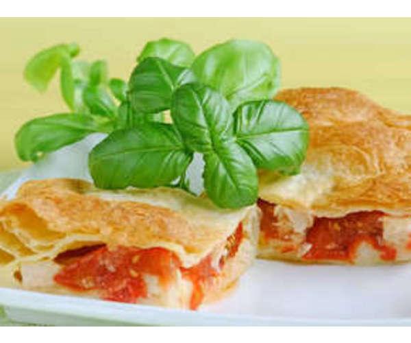 Рецепт                  Слойка с сыром и помидорами