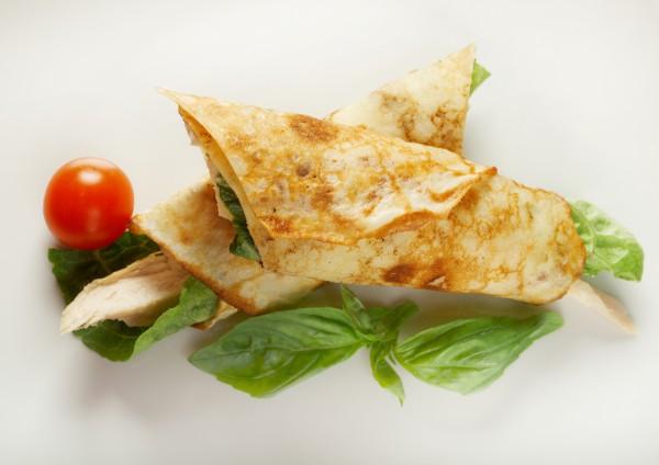 Рецепт                  Масленица 2015: Блины с мясом курицы и плавленым сыром