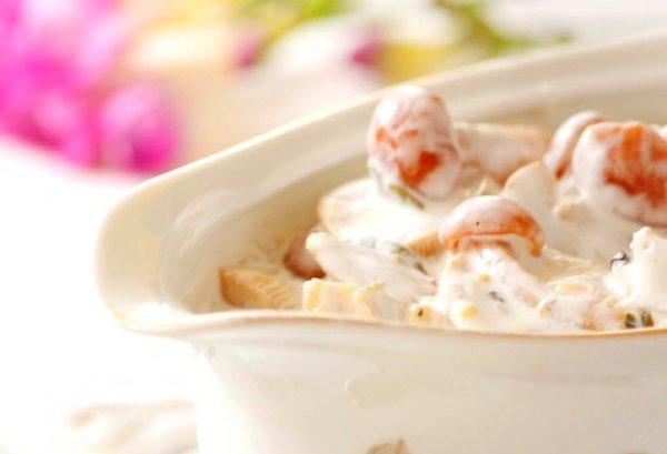 Рецепт                  Маринованные грибы в сметане