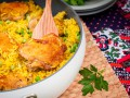 Куриные бедрышки с рисом и карри