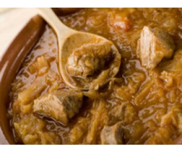 Рецепт                  Свинина с овощами в соусе