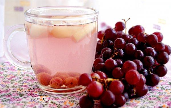 Рецепт                  Компот из яблок и винограда