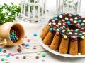 Пасхальный кекс с шоколадной глазурью
