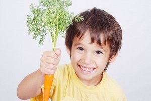 Детям полезно есть морковь и другие овощи
