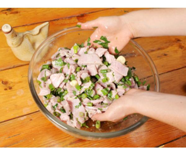 Рецепт                  Салат с тунцом, зеленью и стручковой фасолью