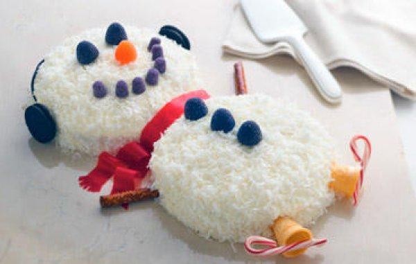 Рецепт                  Как приготовить торт Снеговик на Новый год
