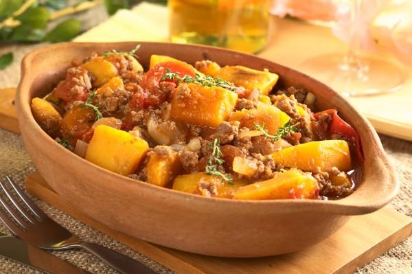Рецепт                  Тыквенное жаркое с мясным фаршем