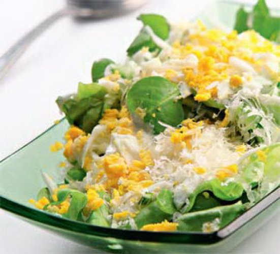 Рецепт                  Зеленый салат с сыром