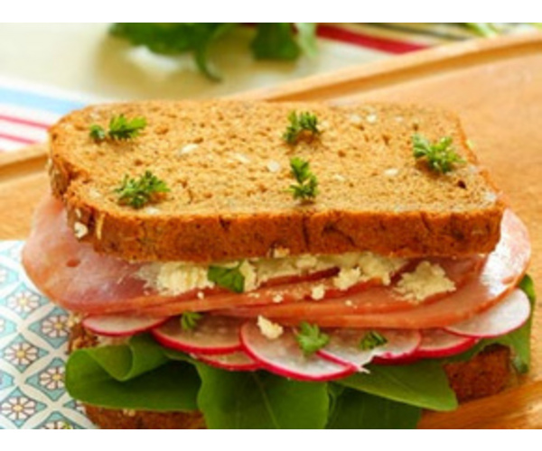 Рецепт                  Сендвич с редисом