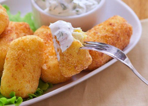 Рецепт                  Картофельные крокеты с сыром
