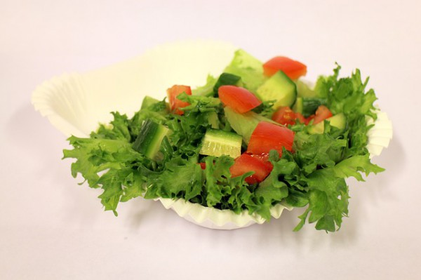 Рецепт                  Салат с помидорами и огурцами