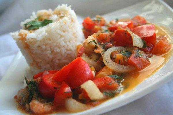 Рецепт                  Рис с креветками, кальмарами и овощами