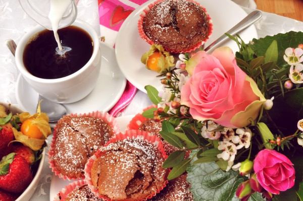 Рецепт                  Рецепты на День Валентина: Шоколадные кексы на завтрак