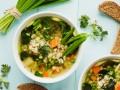 Весенний суп с перловкой и черемшой