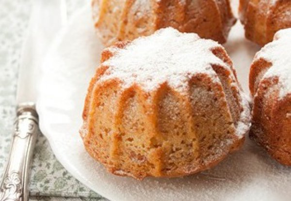 Рецепт                  Постные яблочные кексы с курагой