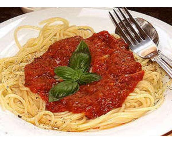 Рецепт                  Паста с грибами и томатным соусом