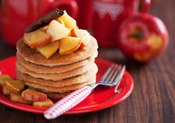 Рецепт                  Панкейки с яблоками и корицей