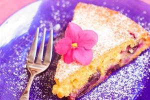 Виноградный пирог остудить и посыпать сахарной пудрой