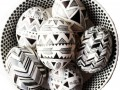 Как украсить пасхальные яйца: Геометрический узор